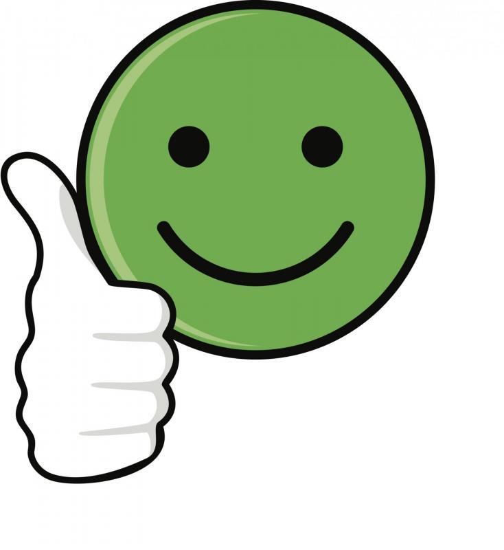 Sticker emoji vert content